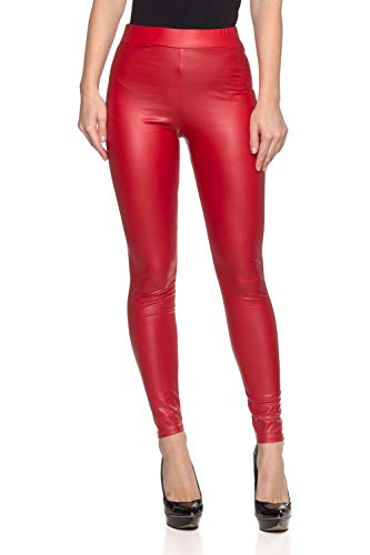 - Women's Junior Plus J2 Love Faux Leather Legging, 1X, Matte Red
