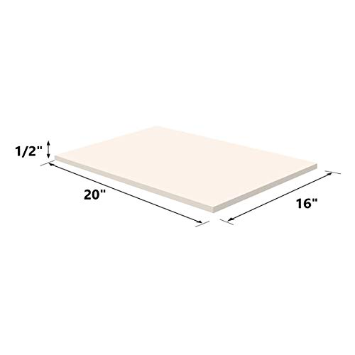 Upholstery Visco Memory Foam Sheet- 3.5 lb High Density 1/2