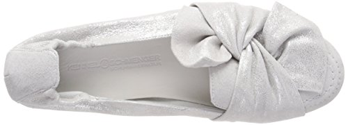 Kennel And Schmenger Ladies Malu Chiuso Ballerine, Bianco (bianco)