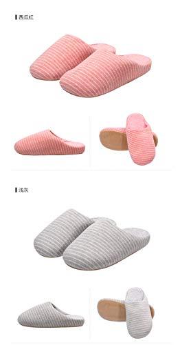 Baotou 37house Indoor Winter Rayas Shoes Grueso A De Interiores Con Y Algodón Rayas Night Outdoor Cómodas Slip Fondo 4 on Zapatillas Wall w4PgT4H