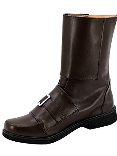 GOTEDDY Rogue Cosplay Booties Halloween Bottine Short Boots Leather Costume Shoes]()