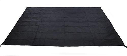 (Waterproof Camping Tarp for Picnics, Tent Footprint, and Sunshade (Black-210x150cm))