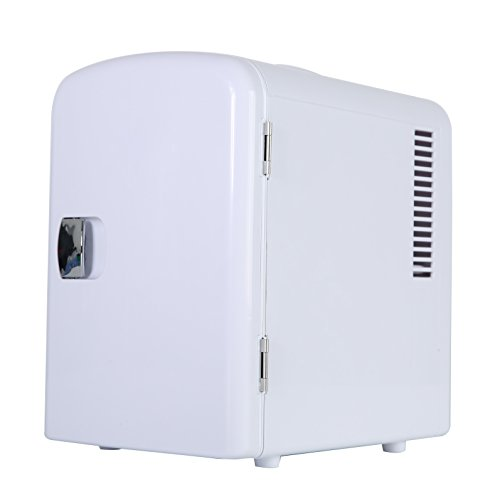 Portable 6 Can Mini Fridge Cooler - Home,Office, Car or Boat - AC & DC - White - 110/120V by Genric (Image #5)