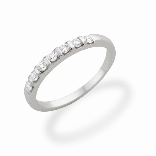 Miore - Bague Femme - Or Blanc 750/1000 (18 Carats) - Diamant 0.25 cts