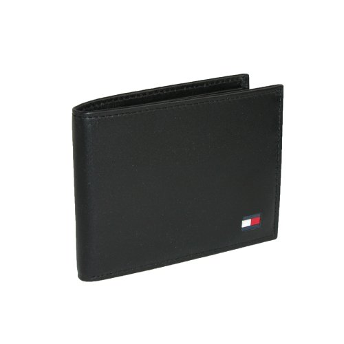 03. Tommy Hilfiger Men's Leather Dore Passcase Billfold Wallet with Removable Card Case