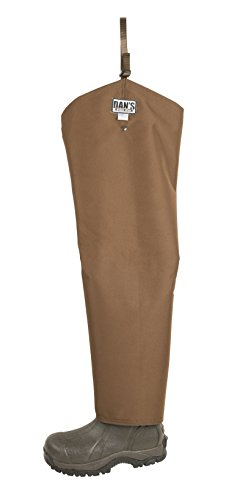 Snake Proof, Briar Proof, Waterproof Hip Waders, Made in U.S.A. (Mens Boot Size 10 - Chap Size 27 Thigh/29 Inseam) Brown