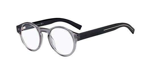 New Christian Dior Homme Black Tie 245 R6S Gray Black Eye Wear Eye Glasses