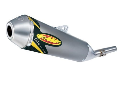 FMF Racing Q4 Spark Arrestor Slip-On - Stainless Midpipe , Material: Aluminum 041486 ()