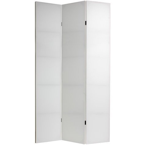 Oriental Furniture 7 ft. Tall Do It Yourself Canvas Room Divider - 3 Panels by ORIENTAL FURNITURE