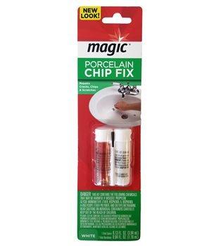 Magic Porcelain Chip Fix 2 Part Epoxy White 2-Pack