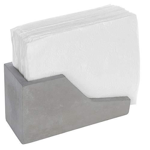 MyGift Modern Concrete Grey Napkin Holder