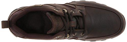 Rockport Mens Cold Springs Plus Mudguard Waterproof Oxford Dark Brown Leather