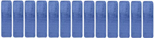 - Comfy Collection Stair Tread Treads Indoor Skid Slip Resistant Carpet Stair Tread Treads Machine Washable 8 ½ inch x 30 inch (Set of 13, Blue)