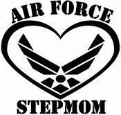 Air Force Step Mom USAF Military Parent Vinyl Decal Sticker|BLACK|Cars Trucks Vans SUV Laptops Wall Art|5