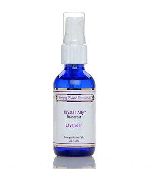 Divine Crystal - Crystal Ally Spray Deodorant Lavender 2 oz by Simply Divine Botanicals