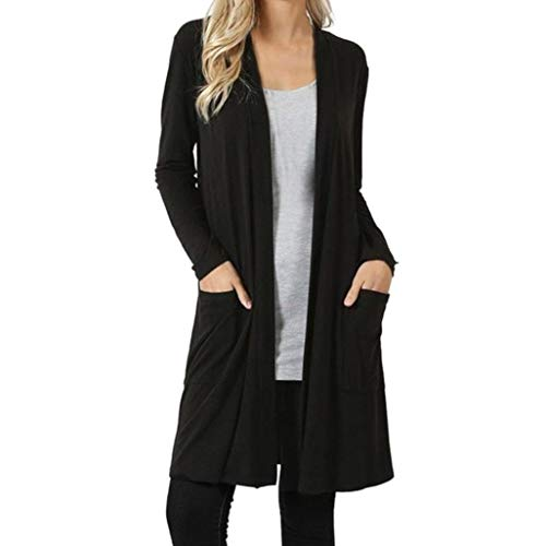 Puffed Sleeve Cardigan - Todaies Women Blouse Womens Open Front Fly Away Cardigan Sweater Long Sleeve Plus Pockets Loose Drape