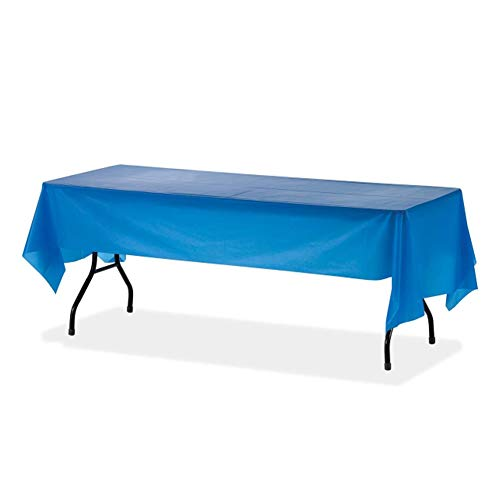Orangehome 12-Pack Plastic Table Cloth 54 x 108 IN Rectangle Table Cover Wedding Birthday Party Disposable Table Cloth (Blue) ()