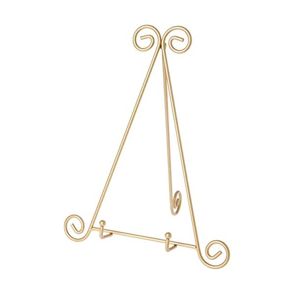 Bards-Gold-Toned-Metal-Easel-15-H-x-12-W-x-10-D-for-125-Deep-Plates