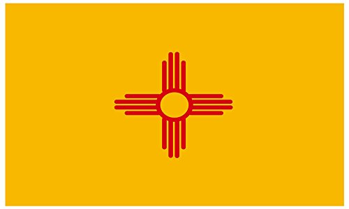 Aimto 3x5 ft New Mexico Flag - bright colors and anti-fading materials - polyester canvas and brass buttonhole - quality (New Mexico State Flag)