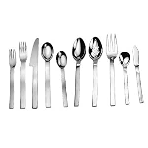 David shaw 45 piece splendide wave flatware set silver flatware - Splendide flatware ...