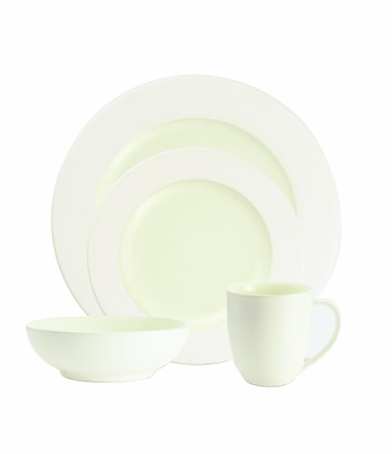 Noritake Colorwave White 4-Piece Rim Place Setting Noritake Colorwave Graphite Cereal
