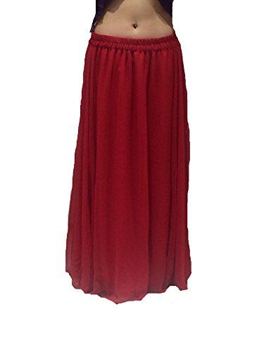 a Dance Scegli Rosso 10 Gonna XXL 6m 8 Lunghezza S BRITANNICO 24 Adatto Costume fino ondulate Belly orlato FORMATO VIOLA Ctqfgx