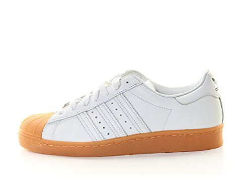 Adidas Originals Superster 80 Dlx Heren Trainers Sneakers Wit Goud Metallic S75830