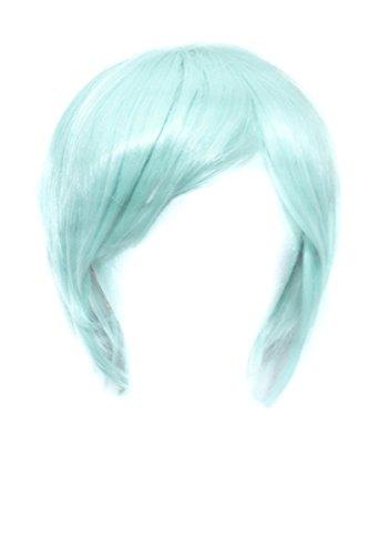 Ken - Mint Green Wig 11'' Short Straight Men's Cut with Long Bangs