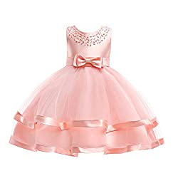 COMISARA 6M-9T Kids Pageant Flower Girl Dress Little Girls Party Wedding Formal Dresses