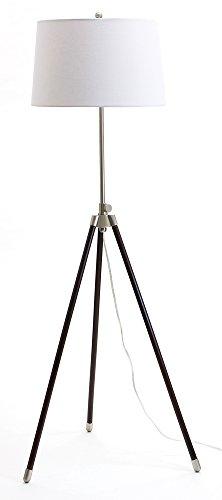 House of Troy TR201-SN Tripod Adjustable Floor Lamp, Satin Nickel
