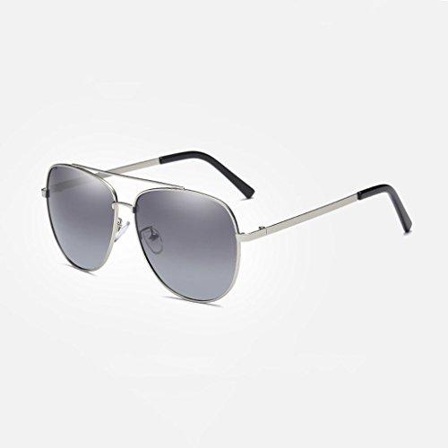 Grey clásica water nueva Hombres Silver frame de de sol polarizadas Silver LSX libre Lens al silver Gradient de conducción lens aire Gafas Color Frame LX viaje Gafas 6wqH4ZC