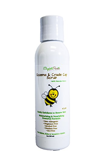 Cradle Cap Treatment Scrub Removes Flakes and Scales with Gentle Natural Formula for Babies, Kids and Adults with Sensitive Skin or Eczema - Baby Cradle Cap Remedy