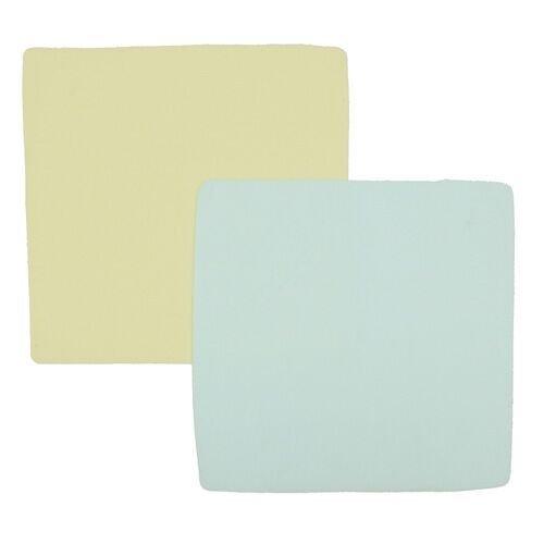 Nicki's Diapers Fleece Wipes, 10-Pack, Light Blue/Light Yellow