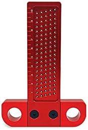穴測定ルーラー、精密木工ツール、アルミ合金T角穴測定ルーラー、大工角度分度器測定ツール用 T100