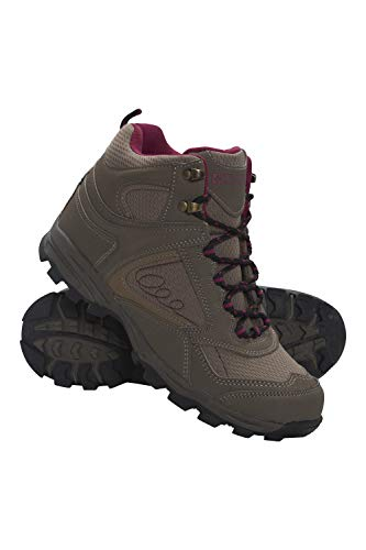 Mountain Warehouse Breathable Footwear Deep lugs EVA Cushioning Padded Tongue & Ankle Mesh Lining Footwear Synthetic & Mesh Upper Brown Womens Shoe Size 8 US