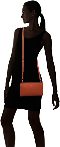 Michael Kors Jet Set Travel Large Crossbody Clutch, Borsa a Tracolla Donna, Arancione (Orange), 15x4x25 cm (L x H x L)