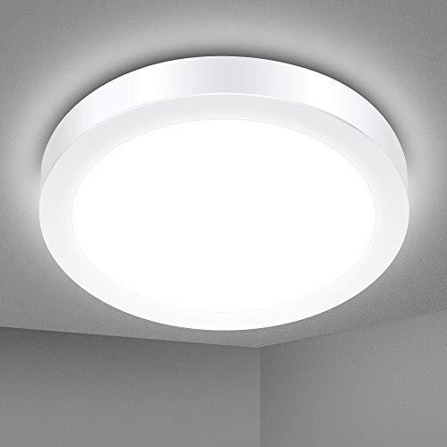 Solmore Led-plafondlamp, 18 W, IP54, waterbestendig, 1700 lm, 5000 K koudwit, ideaal voor badkamer, slaapkamer, hal…