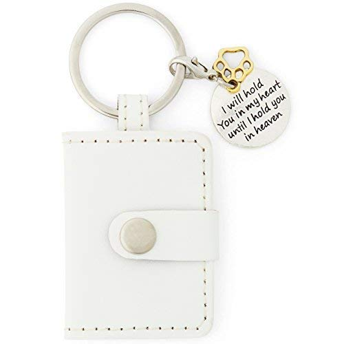 Orchid Valley Pet Loss Memorial Photograph Key-Ring. Keep Your Beloved Cat or Dog by Your Side Always. Unique Thoughtful Sympathy Gift