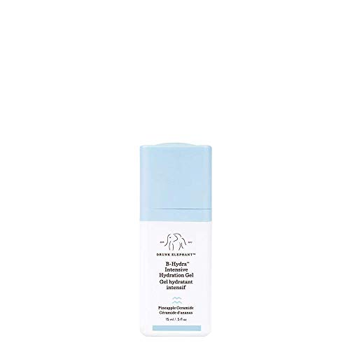 Drunk Elephant B-Hydra Intensive Hydration Gel Midi Size. Gluten Free Anti Wrinkle Serum for All Skin Types (15 ml / 0.5 fl oz)