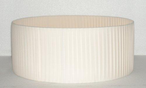 Paralume cilindro diametro 50 in tessuto avorio nastrato a mano ...