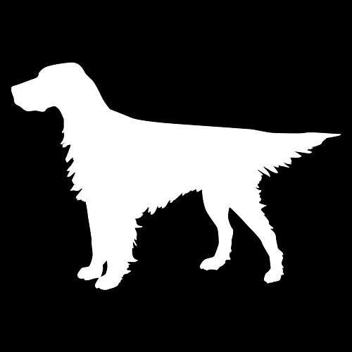English Setter Standing (White - Reverse Image - XL) Decal Sticker - Hunting Dog Collection ()