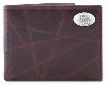 ZeppelinProducts BAY-IWT1-WRNK-BRW Baylor Passcase Wrinkle Leather Wallet from ZeppelinProducts