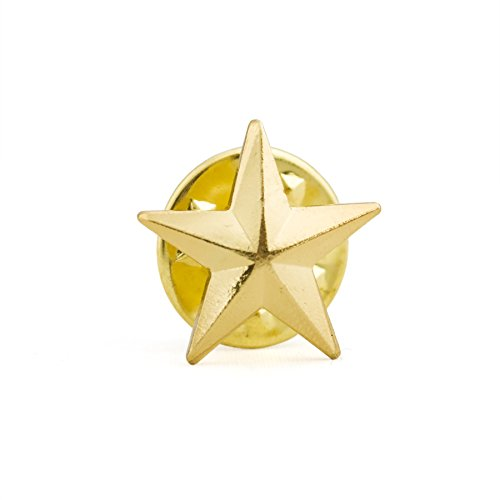 (Price/100PCS) ALICE 3D Metallic Finish Star Lapel Pin, 1/2