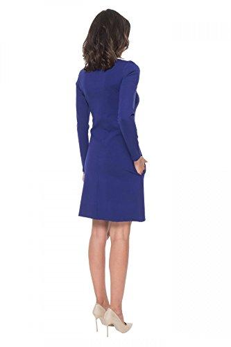 Azul Clea con bolsillos trapecio marino Vestido wwqapYv