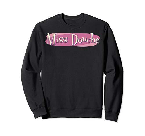 (Crazy Ex Girlfriend Miss Douche Pink Oval Logo Sweatshirt)