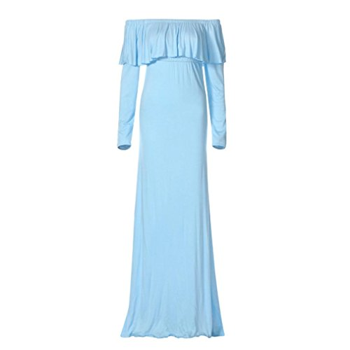 light blue plus size maxi dress - 5