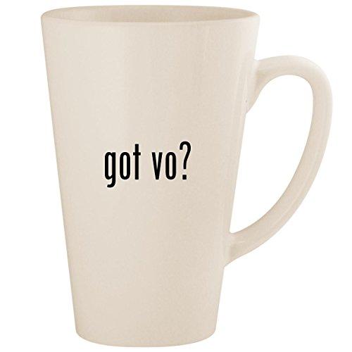 got vo? - White 17oz Ceramic Latte Mug Cup