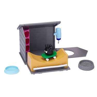 Club Penguin Black Puffle House with Skateboard Ramp Play Set ()