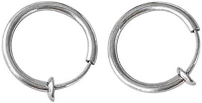 2PCS Clip on Body Nose Lip Ear Fake Retractable Earrings Hoo