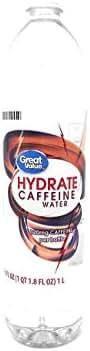Water: Great Value Caffeine Water